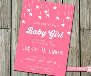 invitation, invite, and baby girl image