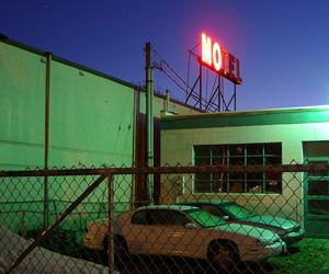 car and motel image