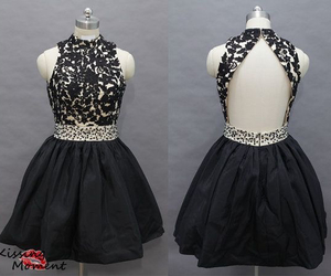 black and white and prom dress image