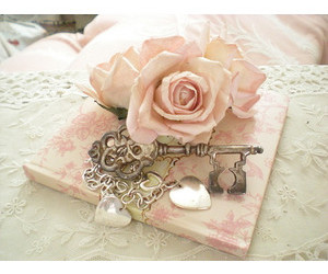acessories, rose, and key image