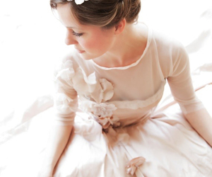 blush wedding dress image
