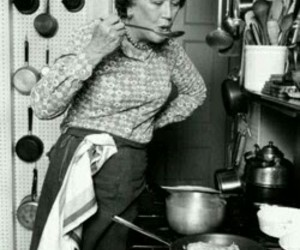 black and white, food, and julia child image
