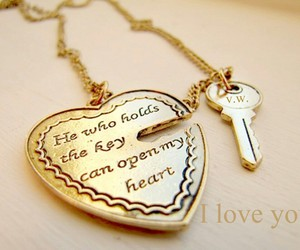 heart, key, and love image