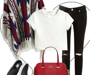 mode, Polyvore, and red image