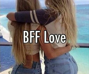 best friends, bff, and blondes image