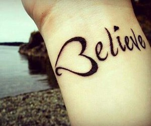 believe, tattoo, and heart image