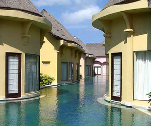 water, house, and bali image