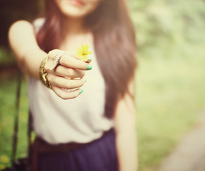 girl, flower, and pretty image