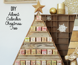advent calendar, christmas tree, and diy image