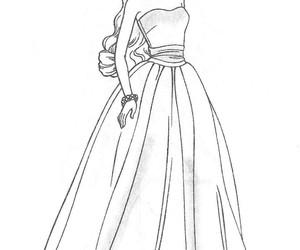 drawings, dress, and fashion image