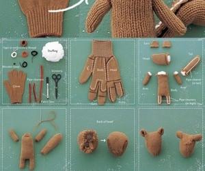 diy, gloves, and bear image