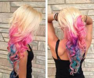 colorful hair, fashion, and wants image