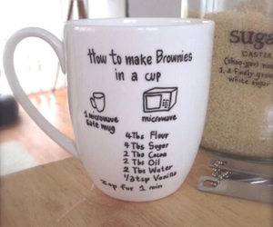 brownie, cup, and eggs image