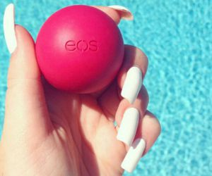 eos, pink, and lipbalm image