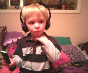 boy, child, and headphones image