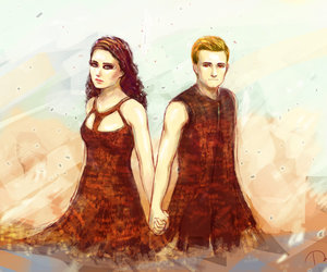 katniss, hunger games, and peeta mellark image
