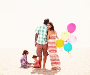 baloons, color, and couple image