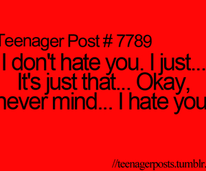 hate, you, and teenagerpost image