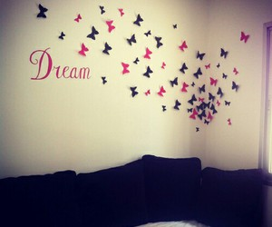 Dream, butterfly, and room image