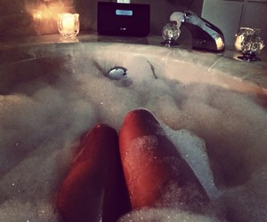 bath, legs, and relax image