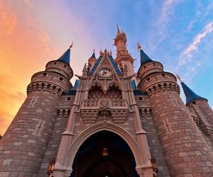 castle, disney, and ariel image
