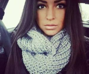 brunette, girl, and pretty image