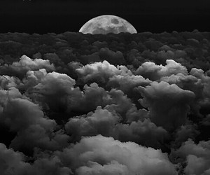 Darkness, moon, and night image