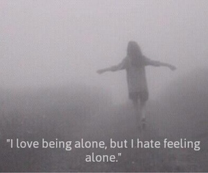 alone, bad, and black and white image