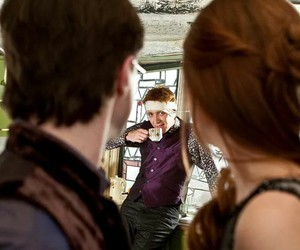 harry potter, ginny weasley, and george weasley image