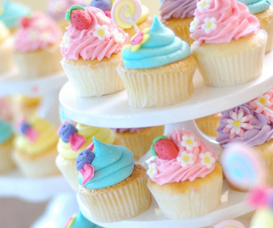 colorful and cupcake image