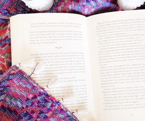 book, candles, and cozy image