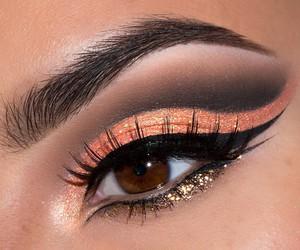 make up, makeup, and orange image
