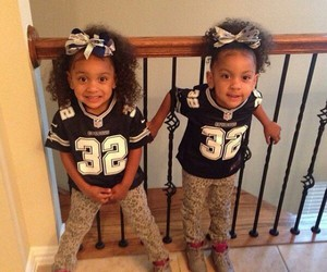 adorable, twins, and black girls image