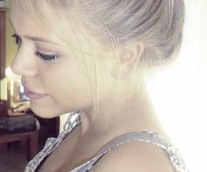 blond, hair, and photograph image