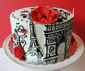 cake, food, and paris image