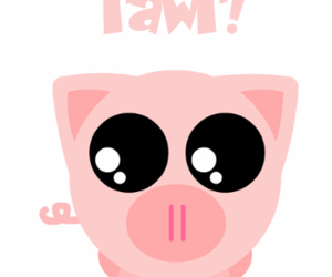 pig, cute, and rawr image