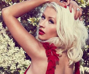 blonde, christina aguilera, and makeup image