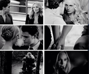 stefan salvatore, the vampire diaries, and caroline forbes image