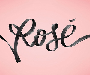 champagne, graphic, and rose image