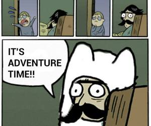 dad, stare dad, and adventure time image