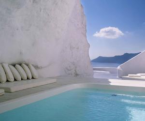 pool, Greece, and santorini image
