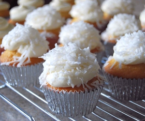 cupcake, food, and coconut image
