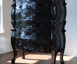 baroque, black, and chair image