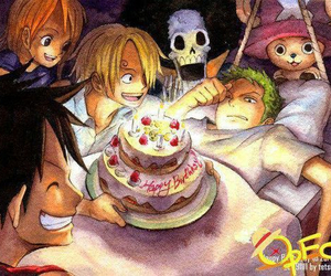 brook, one piece, and sanji image