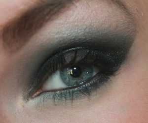 black, makeup, and eyes image