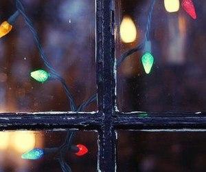 christmas, light, and window image