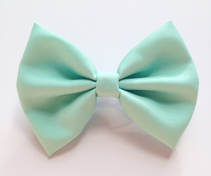 bow, mint, and hairbows image