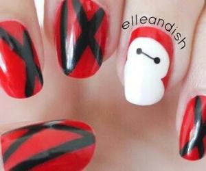 nail art, nails, and baymax image