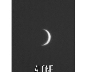 alone, crescent, and lonely image