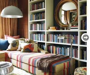 books, room, and design image